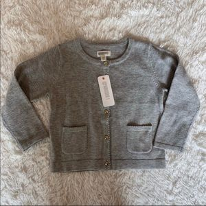 NWT Gymboree gray sweater with gold buttons 18-24